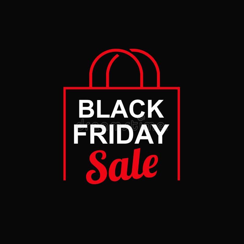 Schwarzer Freitag-Verkauf lizenzfreie abbildung