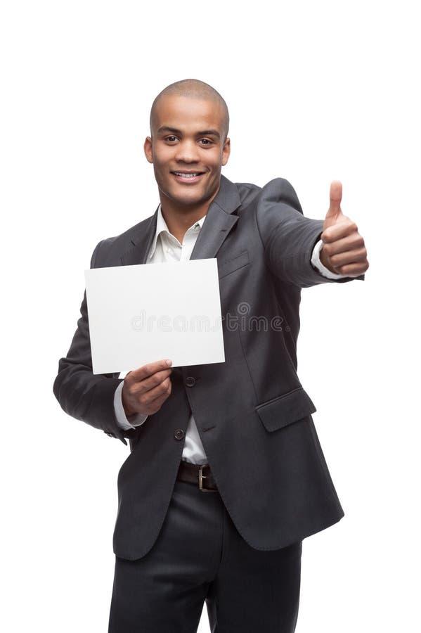 Schwarzer Geschäftsmann lizenzfreies stockfoto