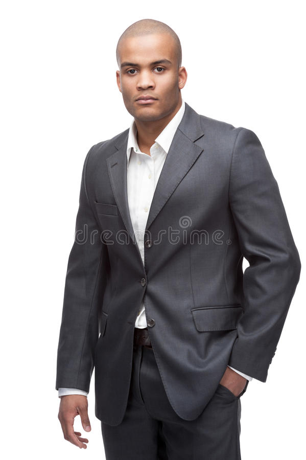 Schwarzer Geschäftsmann stockfoto