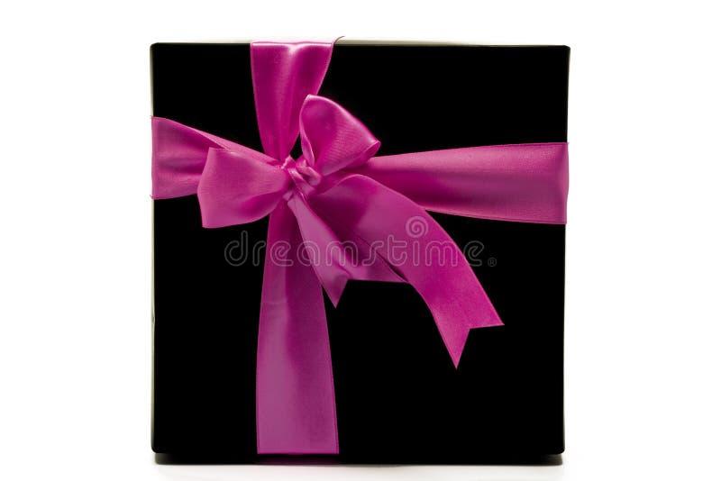 Schwarzer Geschenkkasten stockbilder