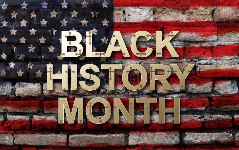 Schwarzer Geschichtsmonats-afro-amerikanischer Geschichtsmonats-Hintergrundentwurf für Feier und Anerkennung im Monat Februar vektor abbildung