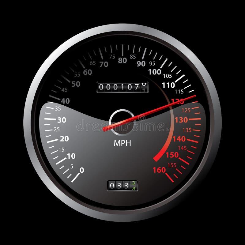 Schwarzer Geschwindigkeitsmesser vektor abbildung