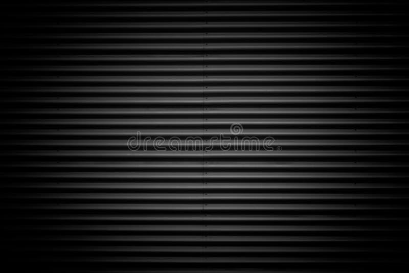Schwarzer gewölbter Metallbeschaffenheitshintergrund stockfotografie