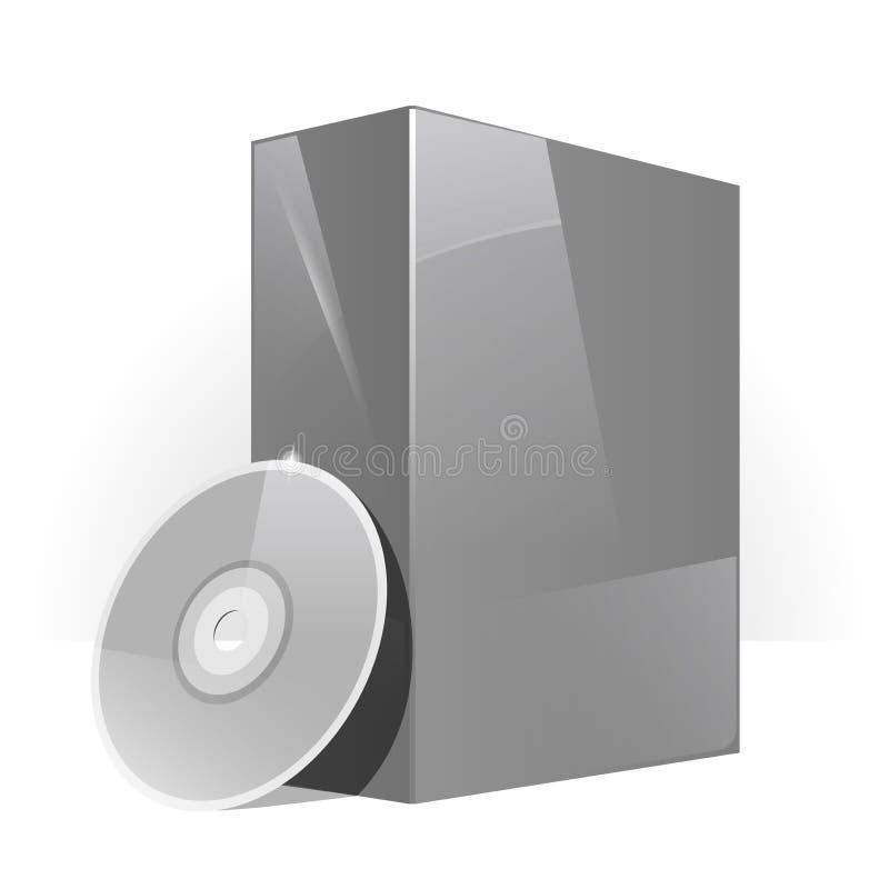 Schwarzer glatter Paket-Kasten stock abbildung