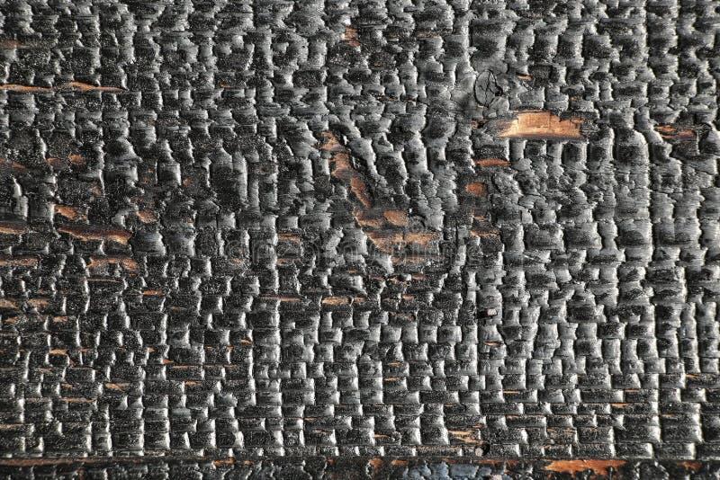 Schwarzer grunge Hintergrund Gebrannte h?lzerne Beschaffenheit lizenzfreies stockfoto