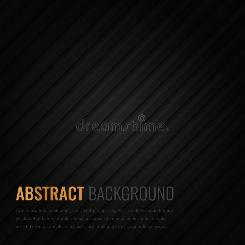 Schwarzer Hintergrund Abstrakte geometrische Schablone für Geschäft Hintergrundbeschaffenheit mit Quadrat und Dreieck Vektor lizenzfreie abbildung
