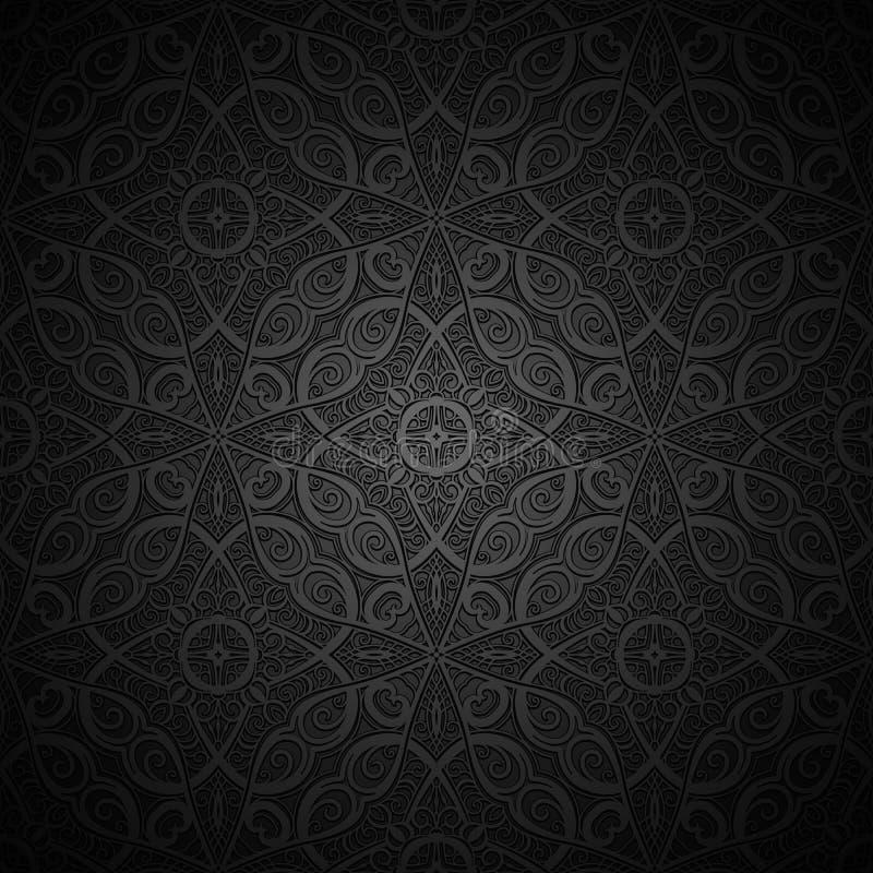 Schwarzer Hintergrund der Weinlese vektor abbildung