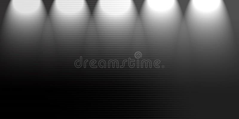 Schwarzer Hintergrund des Scheinwerfers stockbild