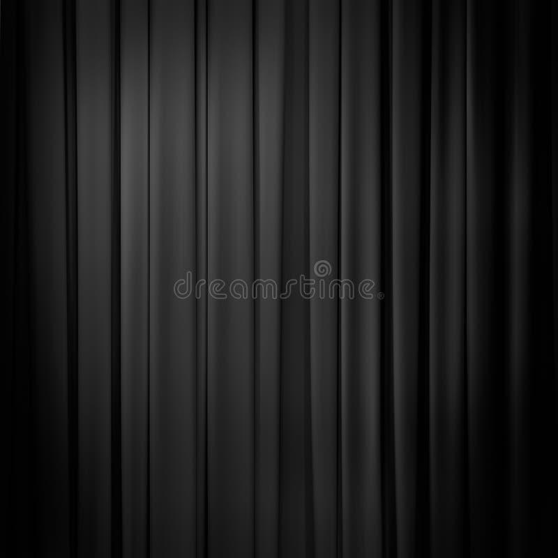 Schwarzer Hintergrund des Vorhangs lizenzfreies stockbild