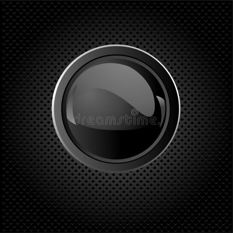 Schwarzer Hintergrund mit Taste lizenzfreie abbildung