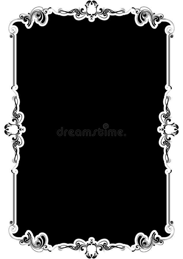 Schwarzer Hintergrundrahmen stock abbildung