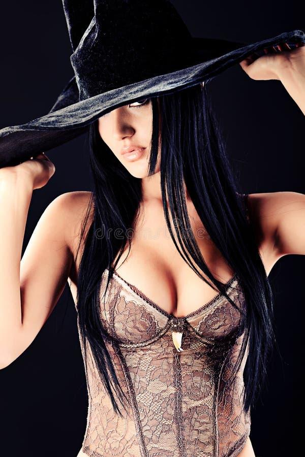 Schwarzer Hut lizenzfreie stockbilder