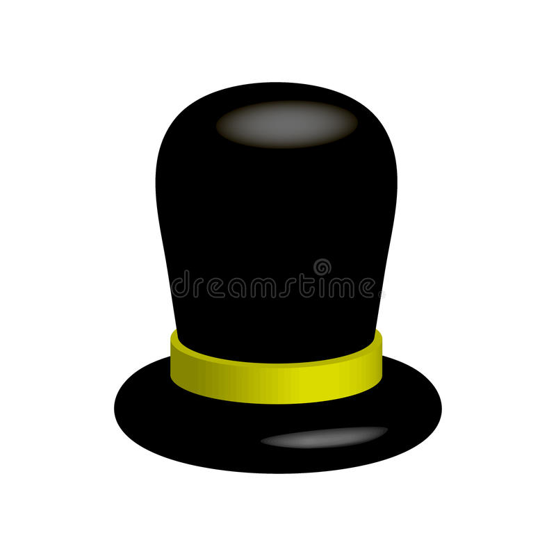 Schwarzer Hut auf einem weißen background vektor abbildung