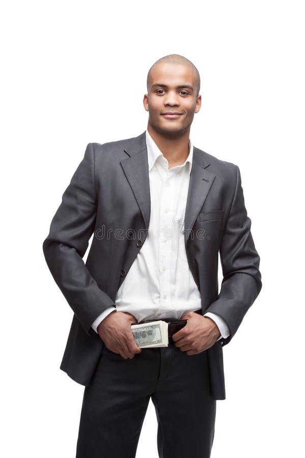 Schwarzer Geschäftsmann lizenzfreie stockfotografie
