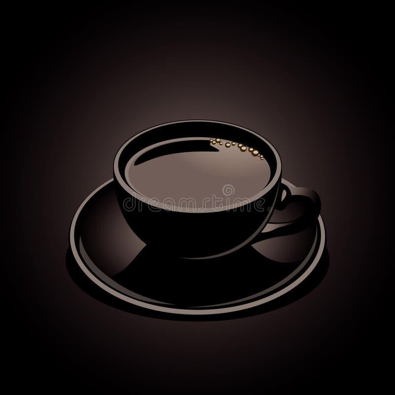 Schwarzer Kaffee lizenzfreie abbildung