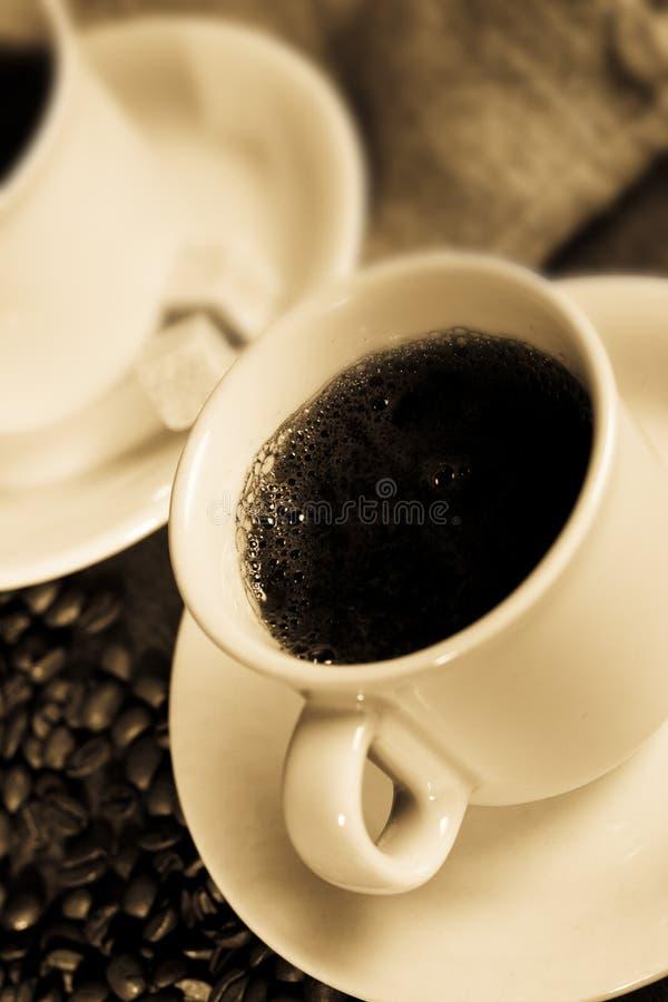 Schwarzer Kaffee stockbilder