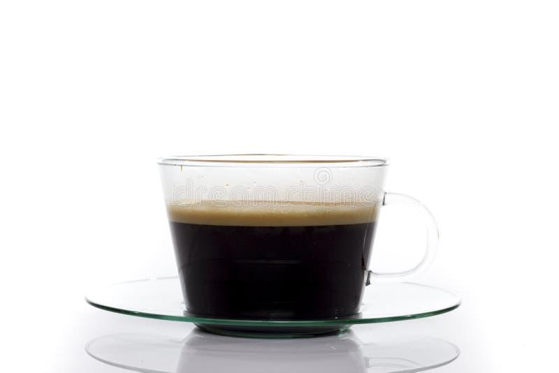 Schwarzer Kaffee im Glas lizenzfreie stockfotos