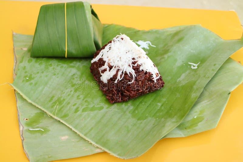 Schwarzer klebriger Reis stockfotografie