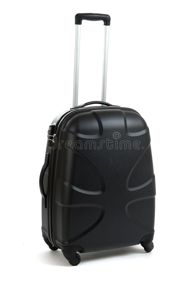 Schwarzer Koffer lizenzfreie stockbilder