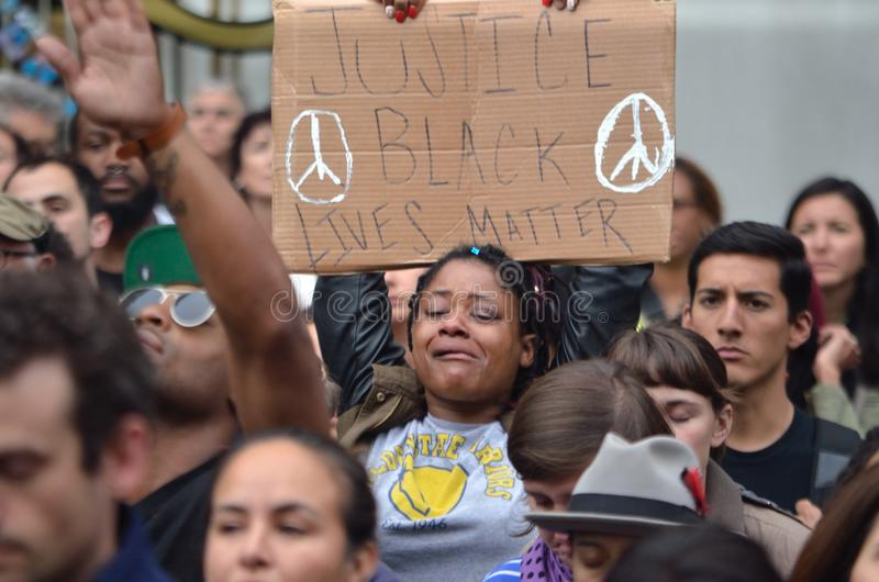 Schwarzer Leben-Angelegenheits-Protest lizenzfreies stockbild