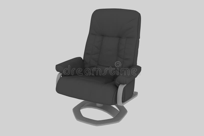 Schwarzer lederner Büro-Stuhl vektor abbildung