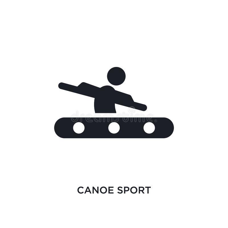 schwarzer lokalisierte Vektorikone des Kanus Sport einfache Elementillustration von den Sportkonzept-Vektorikonen editable Logo d lizenzfreie abbildung
