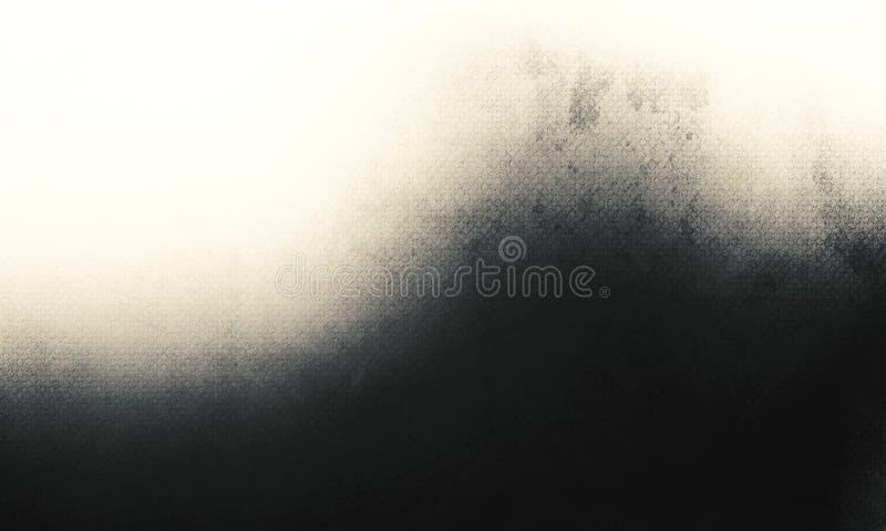 Schwarzer Luxushintergrund der Zusammenfassung, weißer grauer Hintergrund des alten schwarzen Vignettengrenzrahmens, Weinleseschm stock abbildung