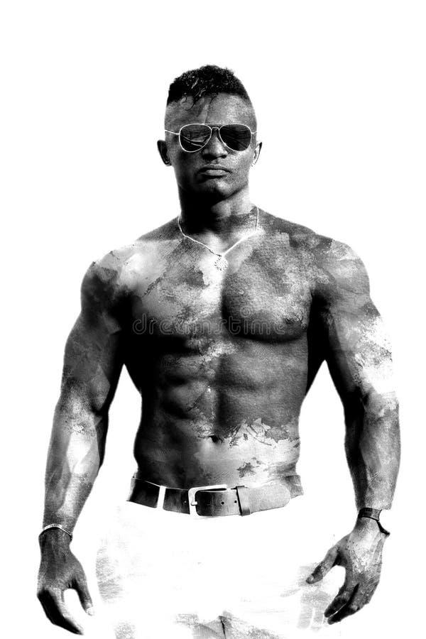 schwarzer mann nackt
