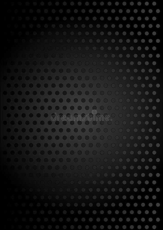 Schwarzer metallischer Hintergrund stock abbildung