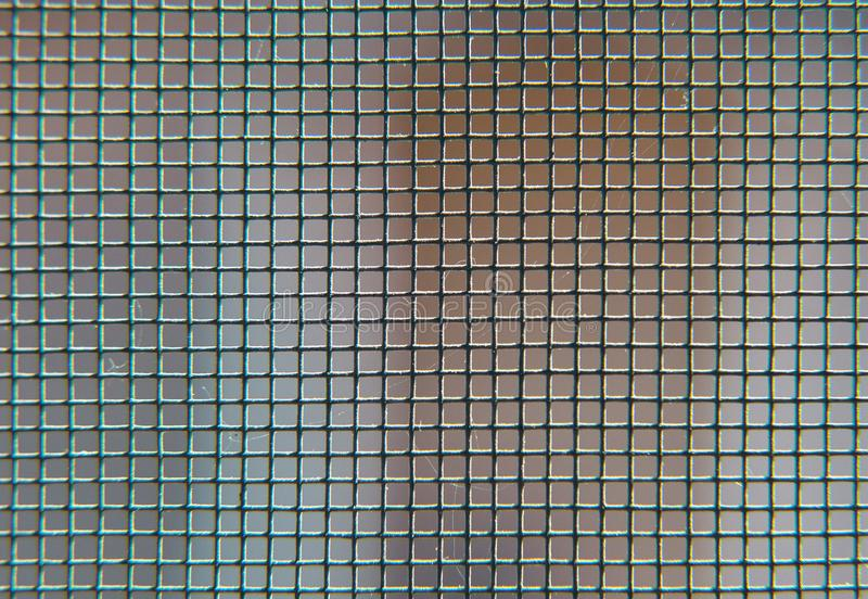 Schwarzer Metallmaschenhintergrund stockbilder