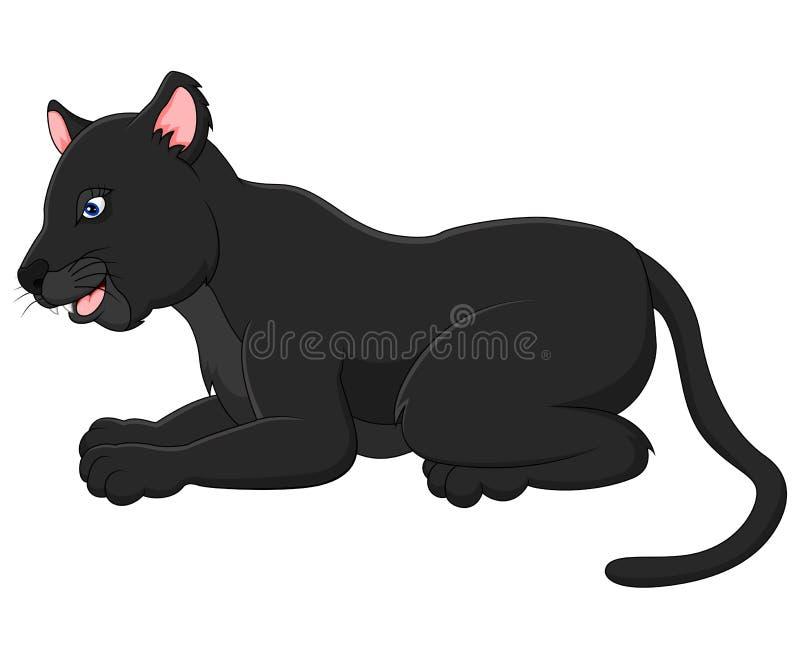 Schwarzer Panther der Karikatur stock abbildung