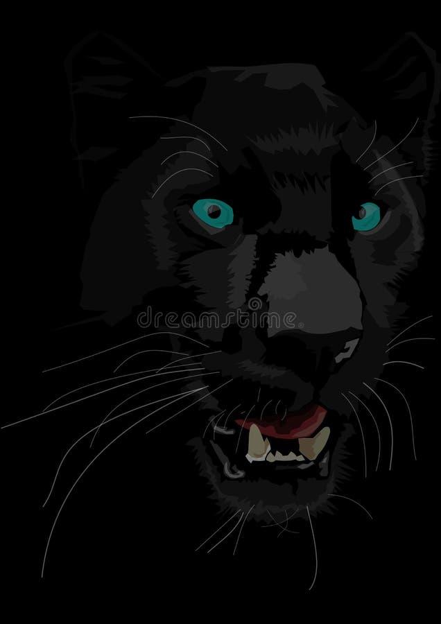 schwarzer panther mit blauen augen vektor abbildung illustration von konkurrenzf hig abschlu. Black Bedroom Furniture Sets. Home Design Ideas