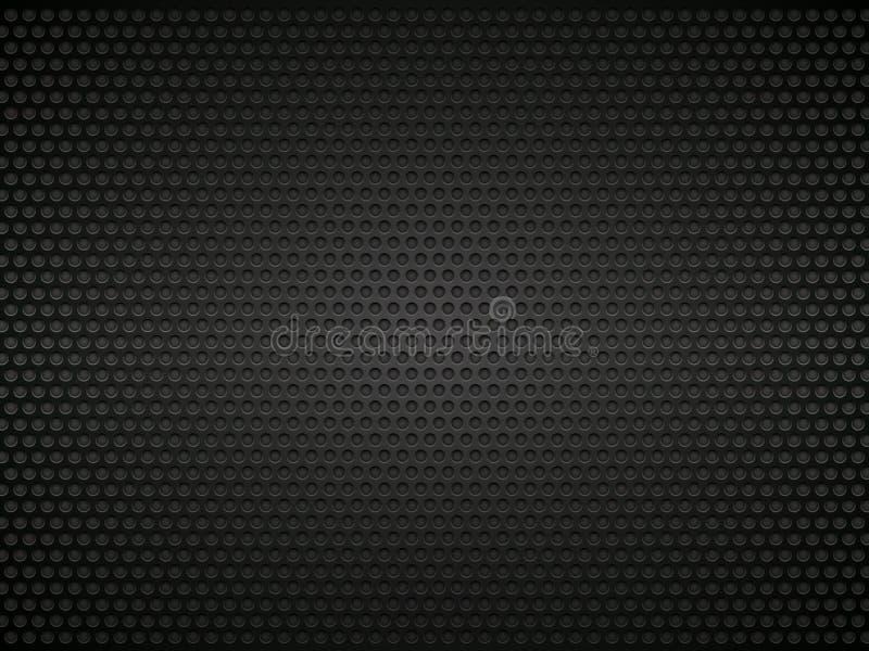 Schwarzer perforierter Metallhintergrund vektor abbildung