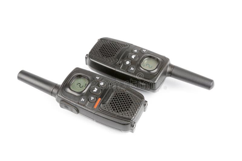 Schwarzer persönlicher Radio lokalisiert auf Weiß lizenzfreie stockfotografie
