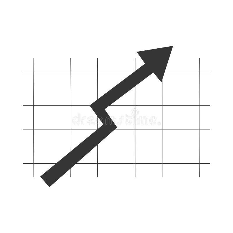 schwarzer Pfeil auf grauem Gitter, Vektorillustration lizenzfreie abbildung