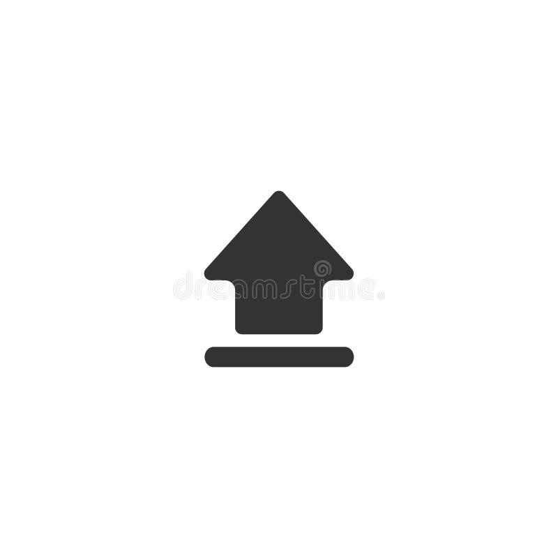 Schwarzer Pfeil herauf Ikone Lokalisiert auf Weiß Antriebskraftikone Verbesserungszeichen stockfotos