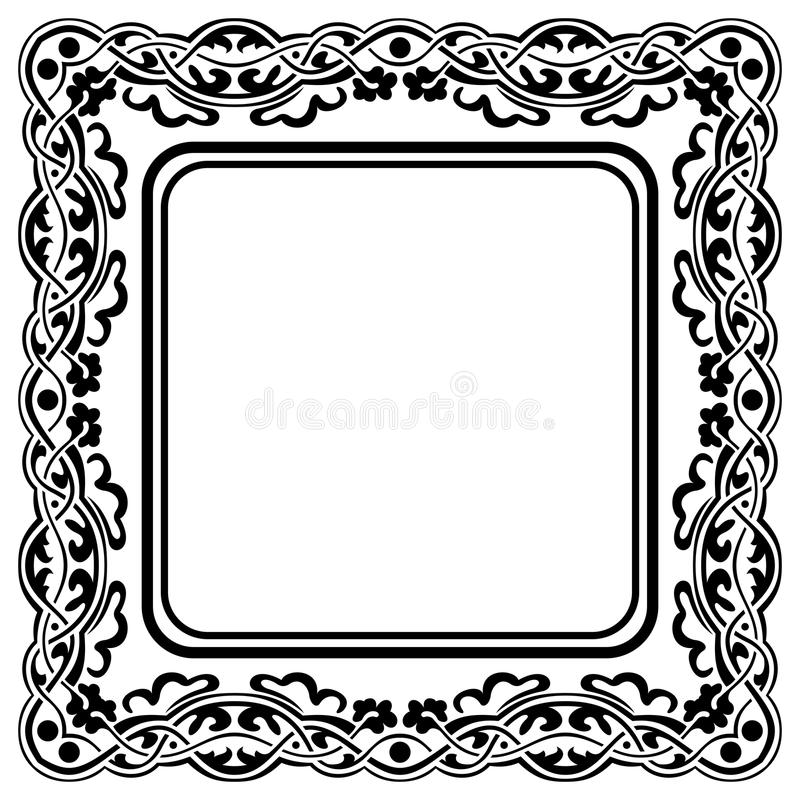 Schwarzer Rahmen vektor abbildung. Illustration von muster - 35067658