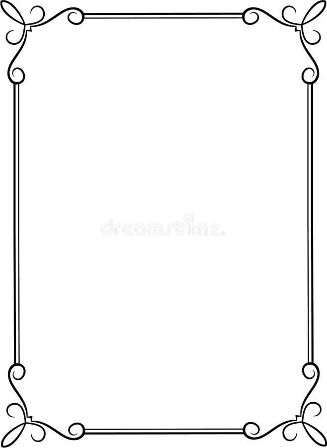 Schwarzer Rahmen vektor abbildung. Illustration von aufwendig - 38343464