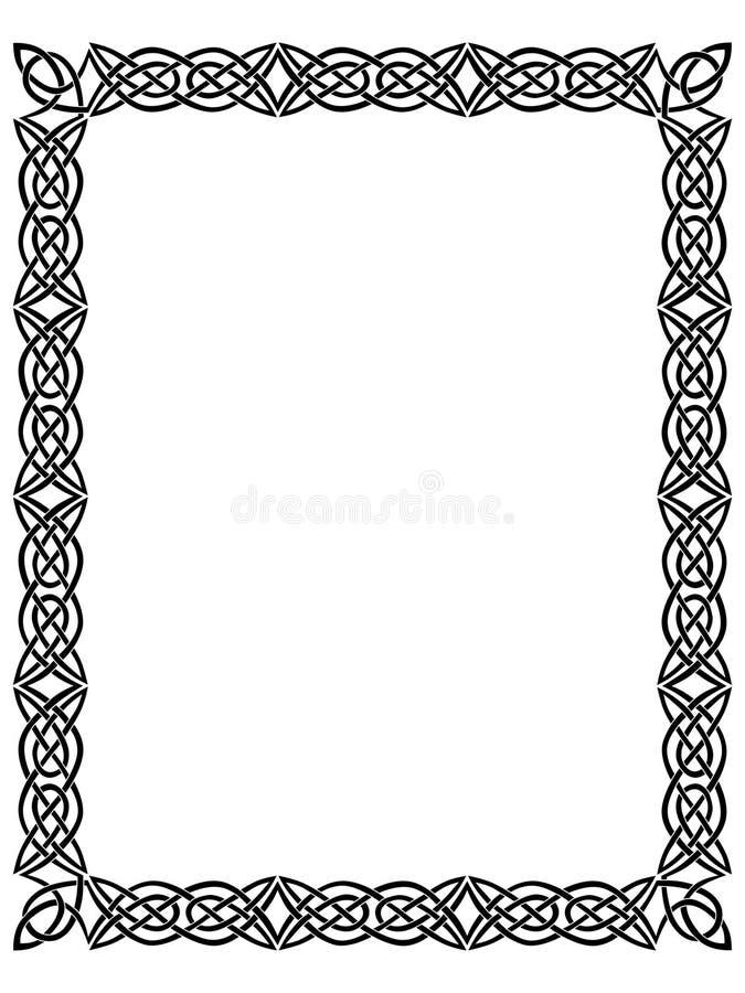 Schwarzer Rand mit keltischer Verzierung   stock abbildung