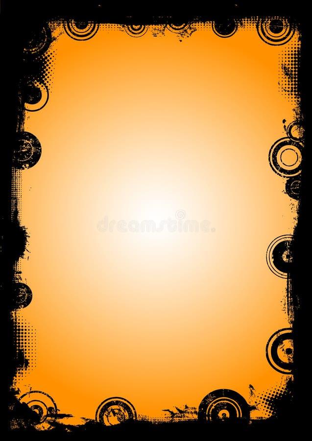 Schwarzer Rand mit Kreisen 4 vektor abbildung