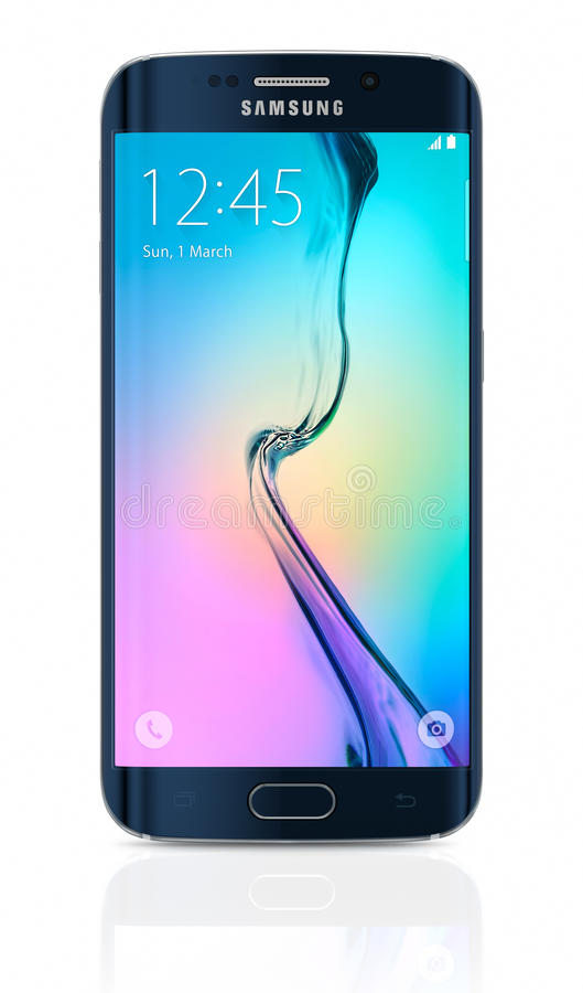 Schwarzer Rand Sapphire Samsung Galaxys S6 lizenzfreies stockfoto