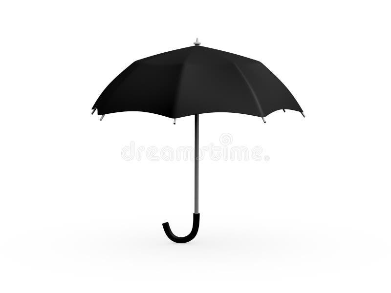 Schwarzer Regenschirm vektor abbildung