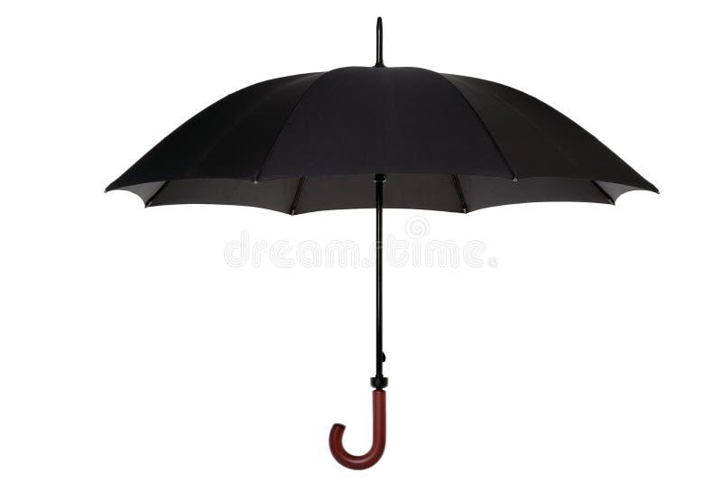 Schwarzer Regenschirm getrennt stockfotografie