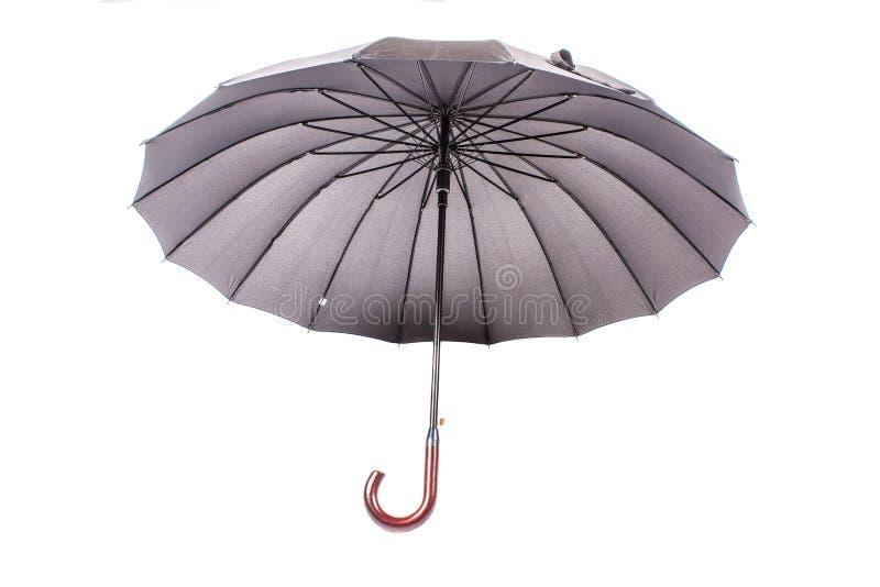 schwarzer regenschirm mit holzgriff stockbild  bild 42511717