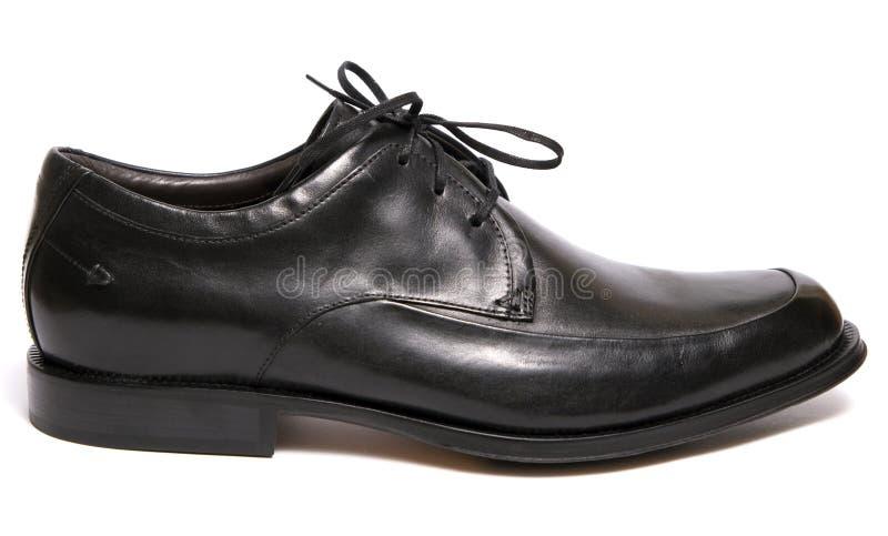 Schwarzer Schuh lizenzfreies stockbild