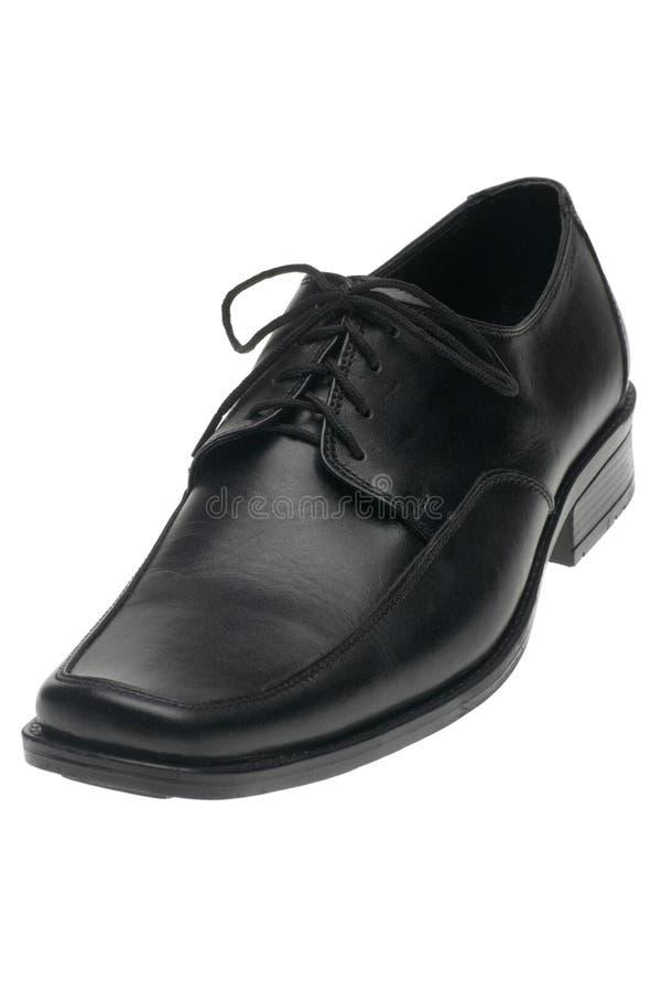 Schwarzer Schuh des Mannes stockfotografie