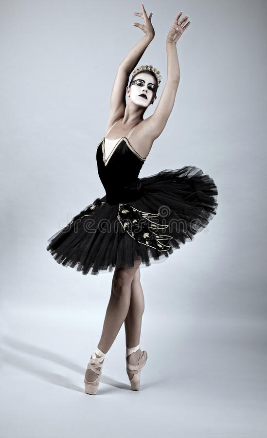 Schwarzer Schwan-Ballett-Tänzer lizenzfreies stockbild