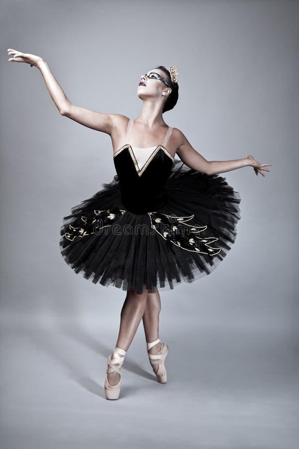 Schwarzer Schwan-Ballett-Tänzer stockfoto