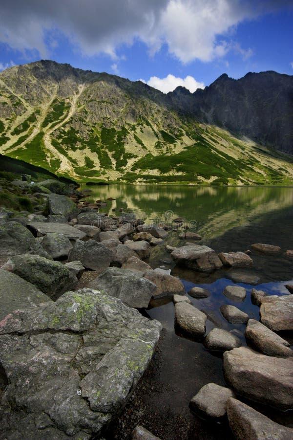 Schwarzer See Tatra stockfoto
