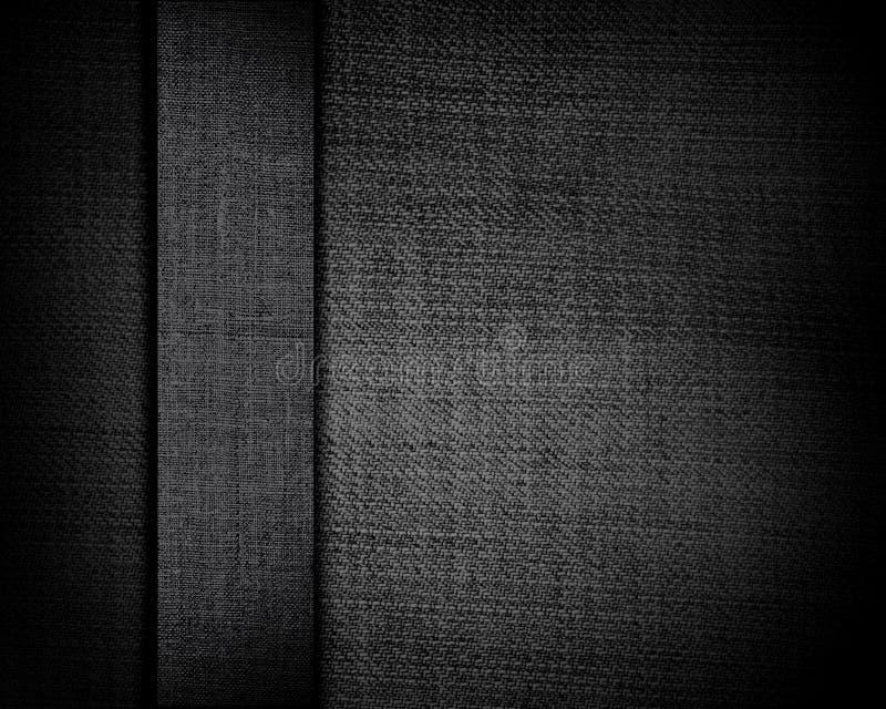 Schwarzer Segeltuchhintergrund mit dunklem Streifen stockbilder